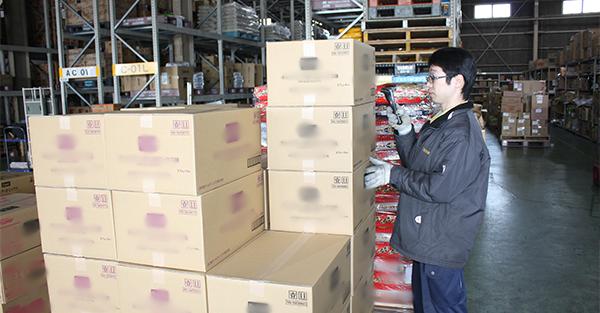 システムデータによる雑貨用品の集品・検品