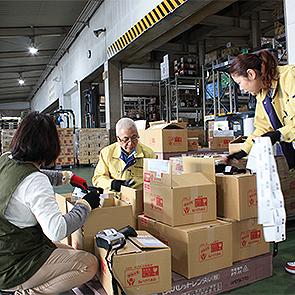 入荷商品の検品作業