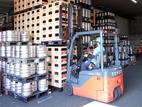 業務用ビールの出荷